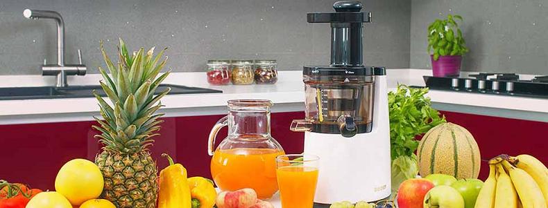 extracteur de jus dans une cuisine
