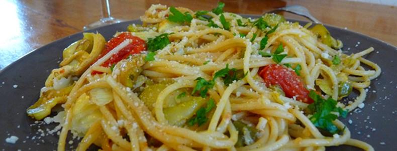 recette de spaghetti aux legumes