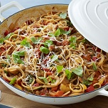 spaghetti chorizo