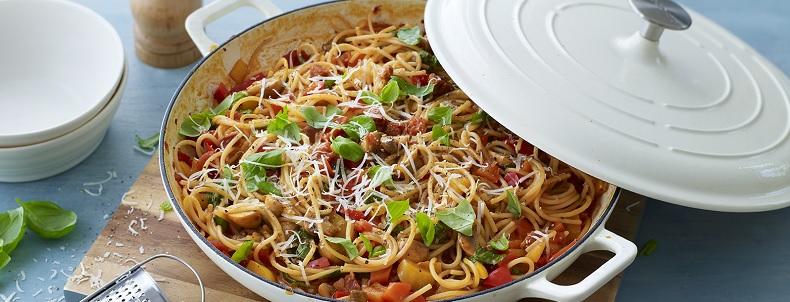 recette de spaghetti chorizo