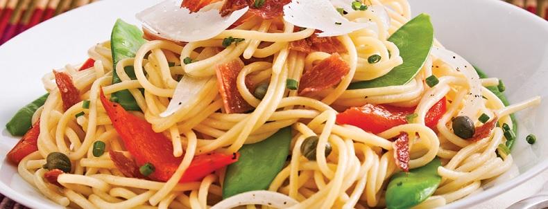 recette de spaghetti aux légumes