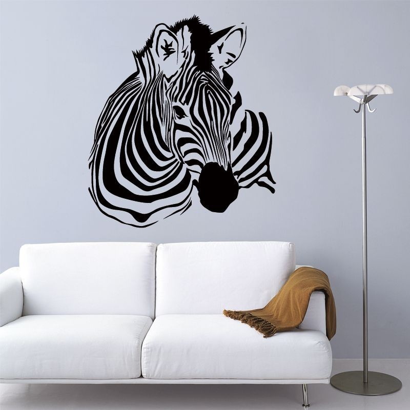 sticker mural zèbre