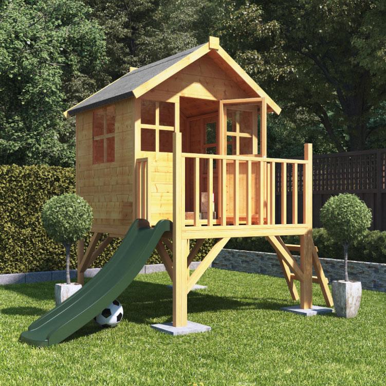 cabane pour enfant dans un jardin